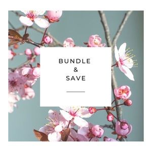 Bundle 3+ items for 15% off! 😊